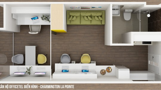 Căn hộ Officetel Charmington La Pointe 31